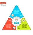 Thin line flat triangle for infographic vector image vector image