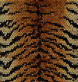 Tiger stripped mosaic background vector image vector image