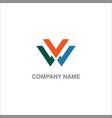 v initial company logo vector image vector image