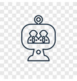 video conference concept linear icon isolated on vector image
