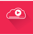 Video streaming from cloud vector image vector image