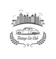 vintage car club logotype vector image vector image