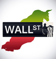 Wall street design vector image vector image