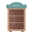 wooden shelf forniture icon square frame and vector image vector image