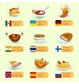 World Food Set vector image vector image