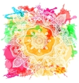 Ornament invitation card with mandala Geometric vector image