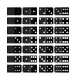 Set of domino flat icons objects for games vector image