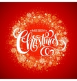 Red Snowflake Christmas Wreath vector image