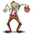 a zombie character on white background vector image