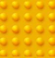 abstract spheres background 3d yellow balls vector image vector image
