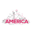 america - line travel vector image