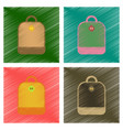 assembly flat shading style icons school bag vector image vector image
