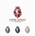 awesome lion king logo image vector image vector image
