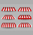 awnings outdoor striped awning for cafe and vector image vector image