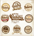Bakery badges and labels vector image vector image