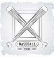 baseball sport cup vector image