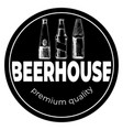 beerhouse dark round vintage label vector image