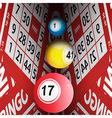 Bingo cards tunnel and bingo balls vector image vector image