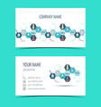Business cards for chemical and scientific vector image