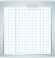 checkbook paper sheet vector image vector image