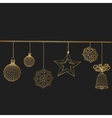 Christmas decoration Polygon vector image vector image