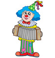 clown with accordion vector image vector image