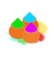 Colorful tika powders icon isometric 3d style vector image vector image