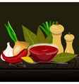 Condiments and spices vector image vector image