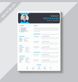 corporate resume template vector image vector image