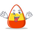 crazy candy corn character cartoon vector image vector image