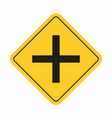 crossroads traffic sign vector image vector image