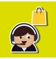 customer service design vector image
