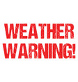 cyclone warning hurricane weather alert typo vector image