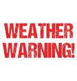 cyclone warning hurricane weather alert typo vector image vector image