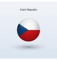 Czech Republic round flag vector image
