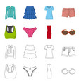 design of woman and clothing symbol set of vector image vector image
