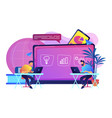 digital learning concept vector image