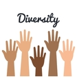diversity concept design vector image vector image