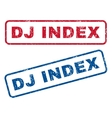 Dj Index Rubber Stamps vector image vector image