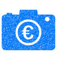 euro photo icon grunge watermark vector image vector image