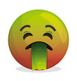 face emoticon character icon vector image vector image