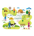 farmer agriculture and farming concept vector image