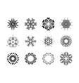 floral mandala pattern unusual flower shape vector image vector image