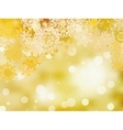 Golden christmas background EPS 8 vector image vector image