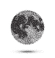 Halftone Moon Icon Tattoo Style Dotwork vector image vector image