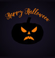halloween party pumpkin halloween poster vector image vector image