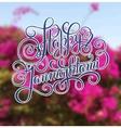 happy krishna janmashtmi hand lettering vector image vector image