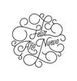 happy new year feliz ano nuevo flourish vector image vector image
