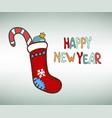 happy new year socks vector image vector image