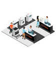 household appliances shop isometric concept vector image vector image